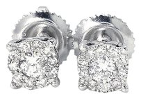 Jewelry Unlimited Mens,Ladies,14k,White,Gold,Round,Cut,5,Mm,Solitaire,Diamond,Stud,Earrings,.25ct