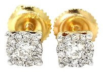 Jewelry Unlimited Mens,Ladies,14k,Yellow,Gold,Round,Cut,5,Mm,Solitaire,Diamond,Stud,Earrings,.25ct