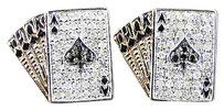 Jewelry Unlimited 10k,Rose,Gold,Diamond,Poker,Straight,Aces,Pave,Shape,Stud,Earrings,13,Mm,.70ct