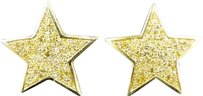 Jewelry Unlimited Mens,Ladies,Yellow,Gold,Finish,With,Yellow,Canary,Diamond,Stud,Earrings,16mm