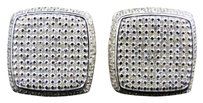 Jewelry Unlimited White,Gold,Finish,Round,Cut,White,Diamond,Square,Stud,Earring,13,Mm,1.105,Ct