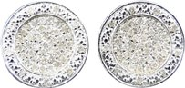 Jewelry Unlimited Mens,Or,Ladies,White,Gold,Finish,Round,Diamond,3d,Cricle,Studs,Earrings,.75,Ct