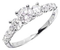 Jewelry Unlimited 10k,Ladies,Three,Stone,Round,Diamond,Wedding,Anniversary,Engagement,Ring,1,Ct