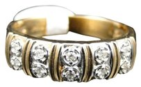Jewelry Unlmited 10k,Mensladies,Yellow,Gold,6.5,Mm,Wedding,Band,Real,Diamond,Ring,14,Ct