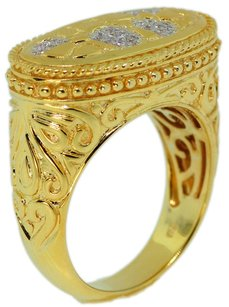 Jewels by Jacob 925 Sterling Silver Gold Plated With Micro Pave Cz Ring - Fncdls05