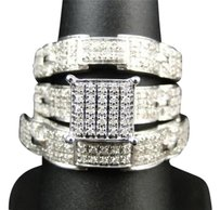 Jewelry Unlimited Mens,Ladies,White,Gold,Diamond,Engagement,Bridal,Wedding,Ring,Trio,Set,.66,Ct