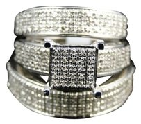 Jewelry Unlimited Mens,Ladies,White,Gold,Diamond,Engagement,Bridal,Wedding,Ring,Trio,Set,.87,Ct