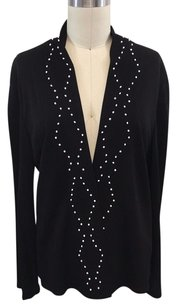 Jil Sander White Beaded Black Jacket