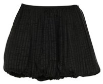 Jill Stuart Jill Womens Silk Chiffon Striped Gathered Bubble Skirt Black