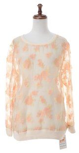 Jill Stuart Women's Clothing Patterned Top Light beige