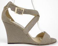 Jimmy Choo Fearne Denim Rope Platforms