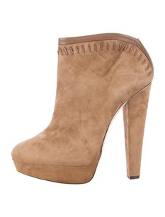 Jimmy Choo Ankle Suede Evans Whipstitch Winter Tan Boots