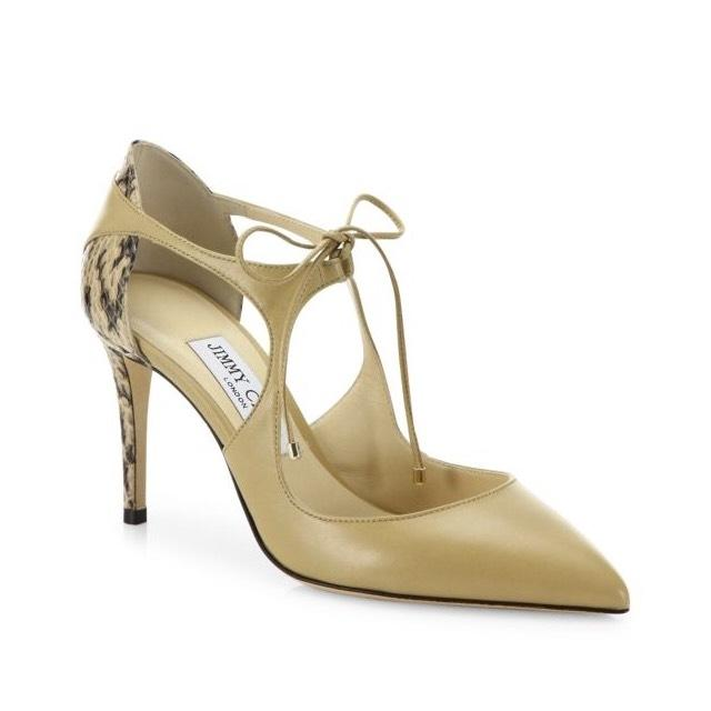 Jimmy Choo Snakeskin Cutout Pumps cheap sale excellent marketable for sale 2014 newest online free shipping sast LZtdRNg7m