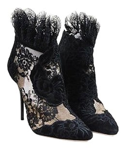 Jimmy Choo Suede Lace Black Boots