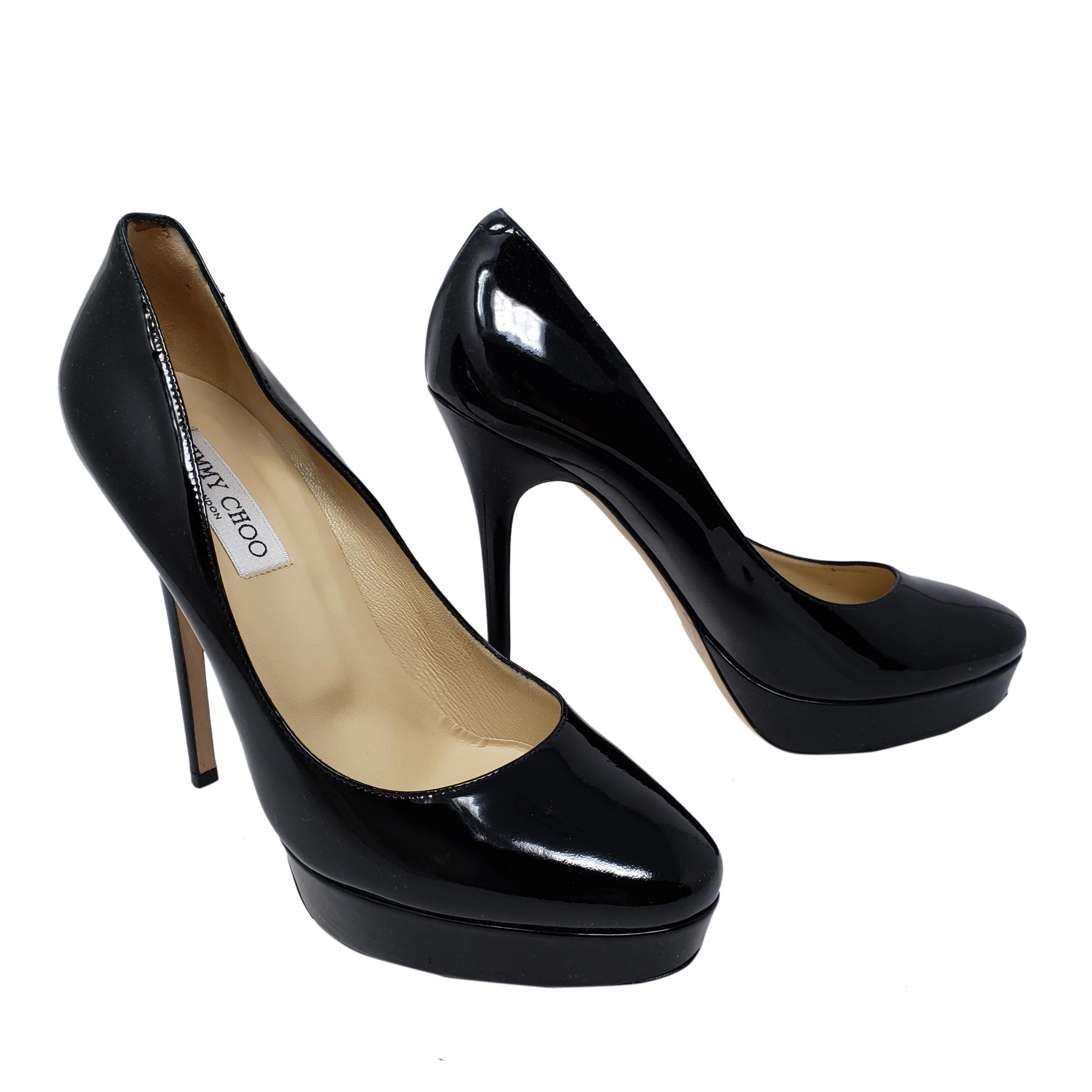 70935f79e877 ... where can i buy jimmy choo cosmic patent leather platform pointed toe  anouk black pumps 1d1de