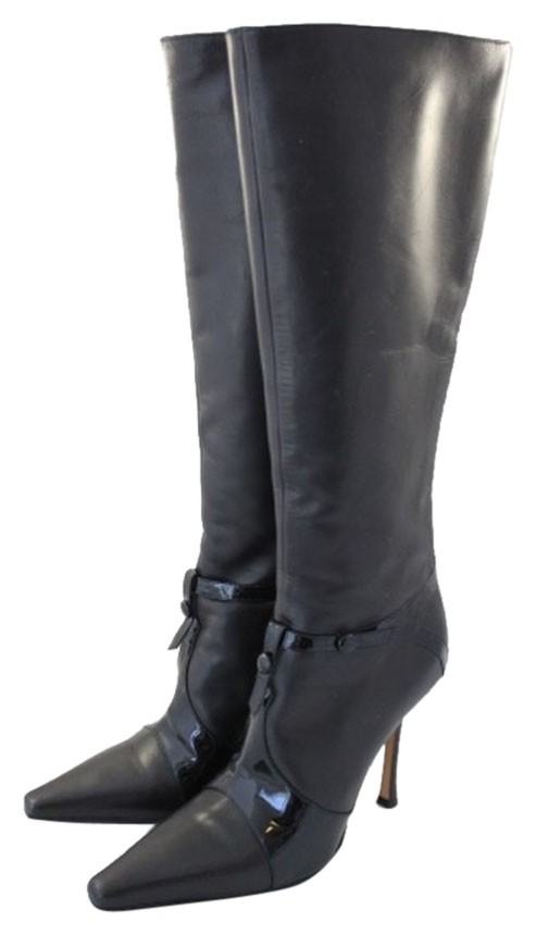 Jimmy Choo Black Like Leather Pointed Patent Tan Like Black New Boots/Booties Size US 8 Regular (M, B) 8cb0c7