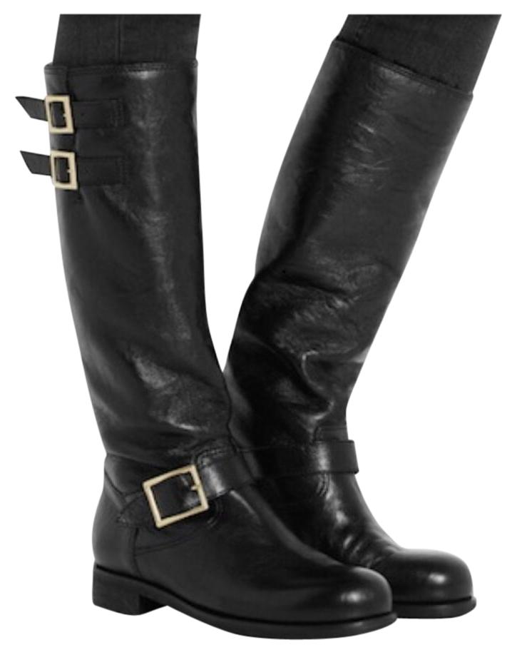 eastbay cheap online Jimmy Choo Fur-Lined Knee-High Boots buy cheap big discount outlet Cheapest DZUpdMX