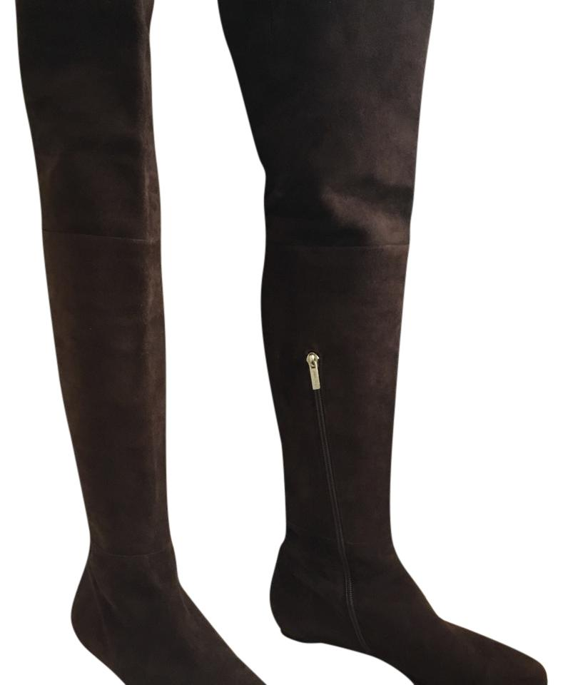 5f3ad892323 Jimmy Choo Brown Over Over Over The Knee Suede Boots Booties Size EU 39 (