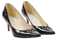 Jimmy Choo Black Patent Brown Pumps