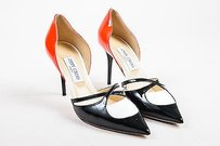 Jimmy Choo Black Red White Multi-Color Pumps