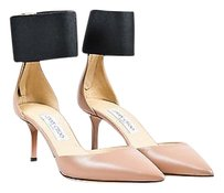Jimmy Choo Black Leather Pink Pumps