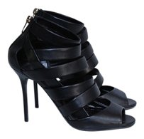 Jimmy Choo Dame Leather Black Sandals