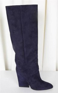 Jimmy Choo Womens Navy Cartel Blue Boots