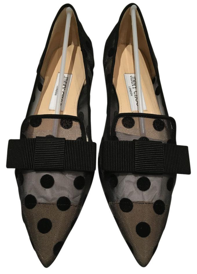 Jimmy Choo Polka Dot Pointed-Toe Flats in China online real sale online i5BnZWQ