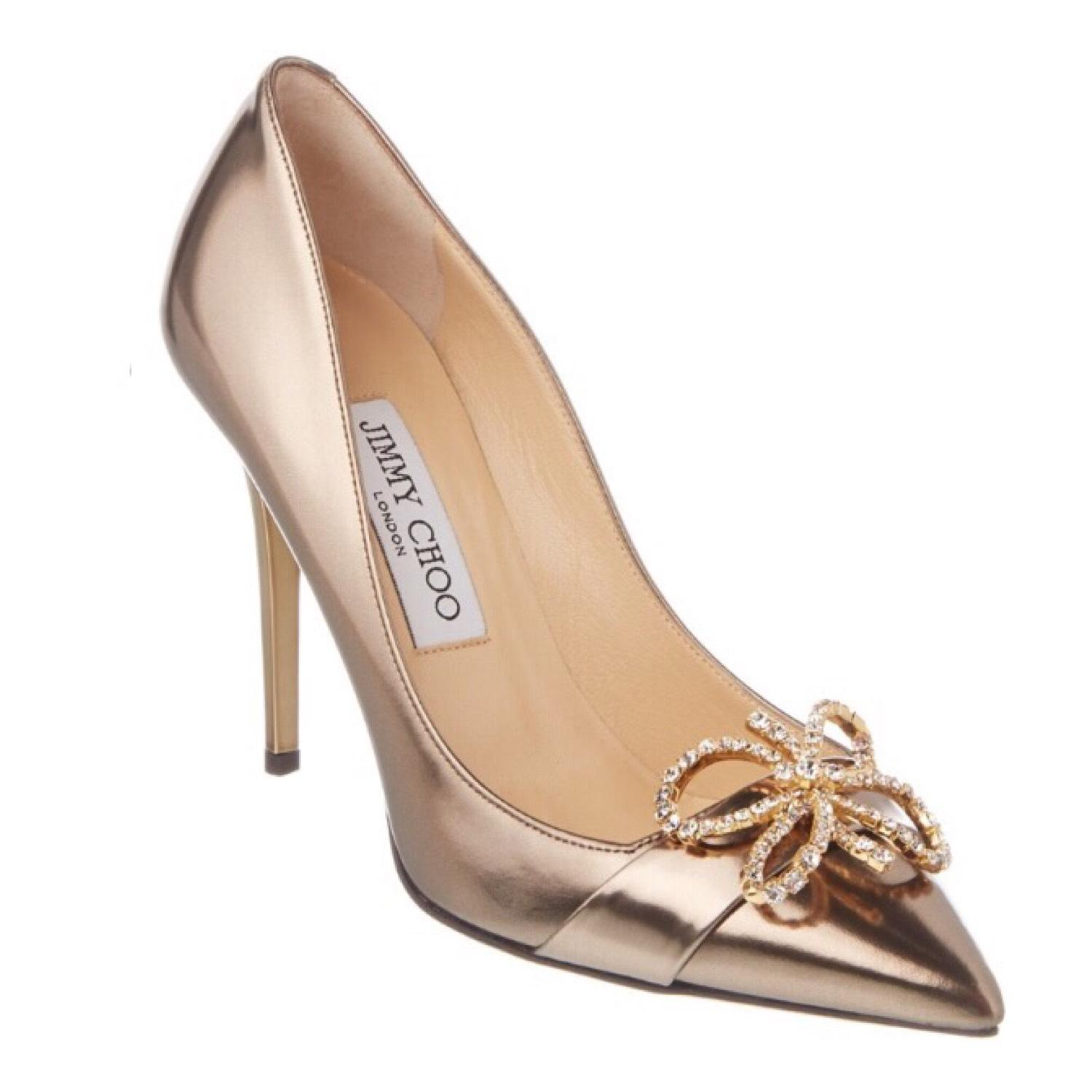 9067963923c Jimmy Choo Gold Gold Gold Crystal Buckle Embellished Pumps Size US 9  Regular (M
