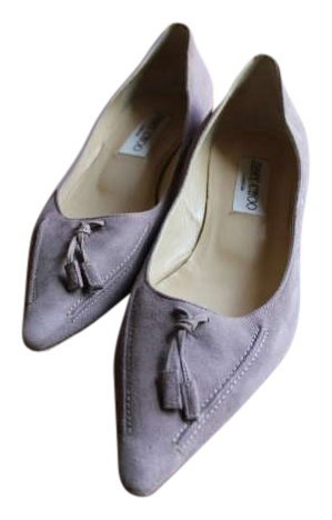Jimmy Detail Choo Lavendar Suede Amazing Detail Jimmy Pumps Size US 7 63425e