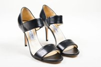 Jimmy Choo Leather Strap Alana Black Sandals