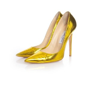 Jimmy Choo Metallic, Gold Pumps