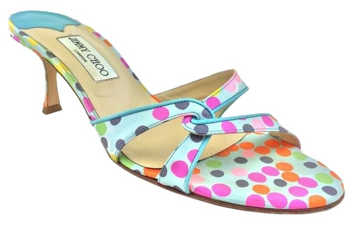 clearance classic discount 100% authentic Jimmy Choo Polka Dot Slide Sandals outlet real F5Rq69qeSr