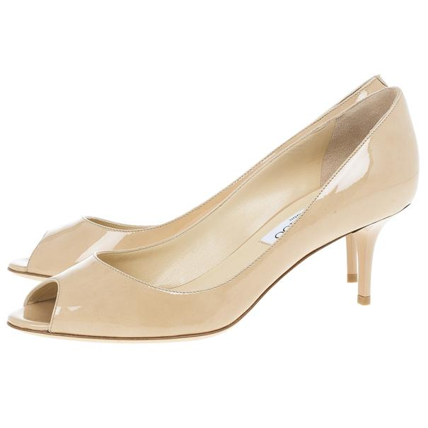 cheap view discount pick a best Jimmy Choo Patent Leather Peep-Toe Sandals free shipping limited edition cheap best prices clearance 100% authentic Ms9GqjzQ