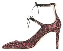Jimmy Choo Women Lace Pink and Black Pumps
