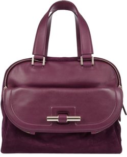 Jimmy Choo Satchel in Purple / Plum