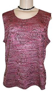 JM Collection Brown Top Pink