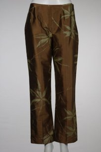 J.McLaughlin J Womens Printed Metallic Casual Silk Trousers Pants