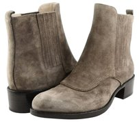 Joan & David Rita Suede Womens Designer Round Toe Fashion Ankle Taupe Boots