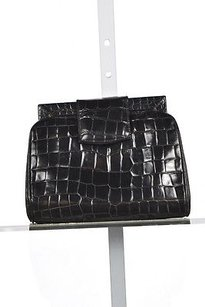 Joan & David Joan Amp David Womens Black Clutch Textured Wallet Handbag Purse