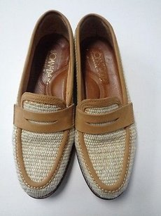 Joan & David Beige Tan And Brown Flats
