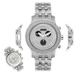 Joe Rodeo Mens Diamond Watch Joe Rodeo J2022 Fully Loaded Ct Illusion Dial