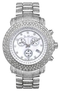 Joe Rodeo Mens Diamond Watch Joe Rodeo Junior Fully Loaded Jju50 17.50 Ct White Mop Dial