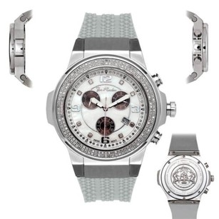 Joe Rodeo Mens Diamond Watch Joe Rodeo Panther Jpt2 1.50 Ct Chronograph White Dial