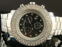 Joe Rodeo Mens Joe Rodeo Junior Jju118 Vs Ct Black Dial Row Bezel Diamond Watch
