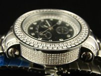 Joe Rodeo Mens Joe Rodeo Junior Row Bezel Black Dial Diamond Watch Jju118 6.75 Ct