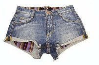 JOE'S Joes Georgie Cut Off Rolled Shorts medium blue wash