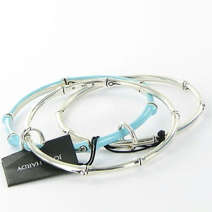 John Hardy John Hardy Bamboo Three Sterling 925 Bangle Bracelets One Turquoise
