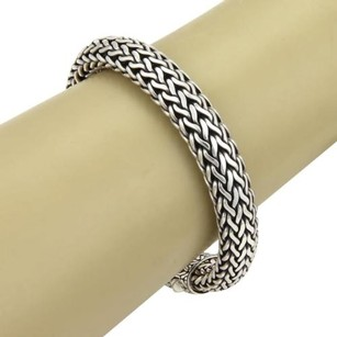 John Hardy John Hardy Classic Wheat 11mm Woven Sterling Silver Bracelet 9 Long