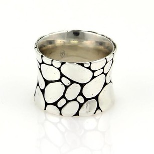 John Hardy John Hardy Kali Pebble 15mm Wide Sterling Silver Band Ring - 5.75